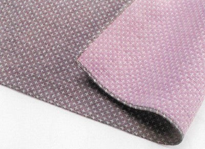 "Furoshiki ""100 Double Gauze Sashiko Furoshiki Cross Stitch Brown / Pink"""