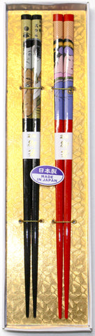"Chopsticks ""2piece Ukiyoe Chopsticks Gift boxed set 22.5cm"" - JapaneseGoods.jp - 1"
