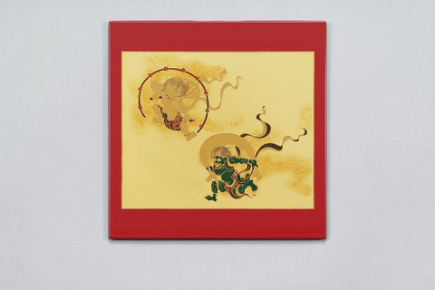 "Mouse Pad ""Lacquer Craft Mouse pad Fujin and Raijin (R)"" - JapaneseGoods.jp"