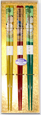 "Chopsticks ""3piece Sumo Chopsticks Gift boxed set 22.5cm"" - JapaneseGoods.jp - 1"