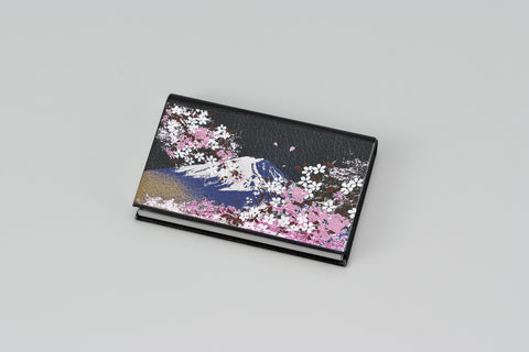 "Card Case ""Lacquer Craft Card Case Mt.Fuji and Cherry Blossoms (B)"" - JapaneseGoods.jp - 1"