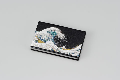 "Card Case ""Lacquer Craft Card Case Nami (B)"" - JapaneseGoods.jp - 1"