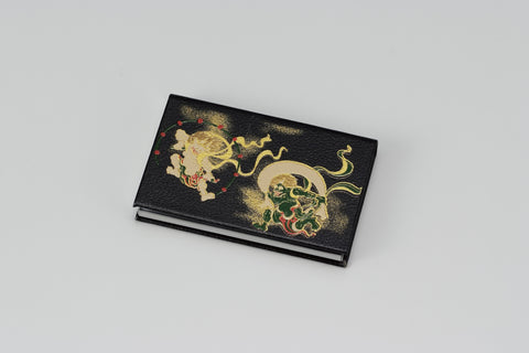 "Card Case ""Lacquer Craft Card Case Fujin and Raijin (B)"" - JapaneseGoods.jp - 1"
