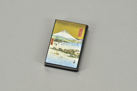 "Card Case ""Lacquer Craft Card Case Mihonomatsubara and Mt. Fuji (B)"" - JapaneseGoods.jp - 1"