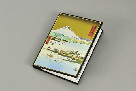 "Address Book ""Lacquer craft Address Book Mihonomatsubara and Mt. Fuji (B)"" - JapaneseGoods.jp"
