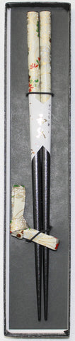 "Chopsticks ""1piece Bunkin Chopsticks and Chopstick rest Gift boxed set 22.5cm"" - JapaneseGoods.jp - 1"