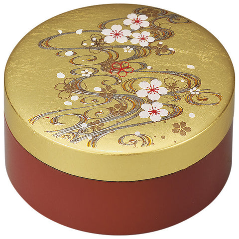 "Accessory Case ""Lacquer Craft 3.0 Accessory Case Cherry Blossoms and River"" - JapaneseGoods.jp"