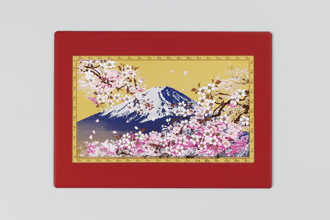 "Multi Purpose Pad ""Lacquer Craft Multi Purpose Pad Mt.Fuji and Cherry Blossoms (R)"" - JapaneseGoods.jp"
