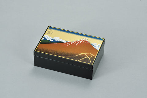 "Accessory Case ""Lacquer Craft Accessory Case KuroFuji"" - JapaneseGoods.jp - 1"