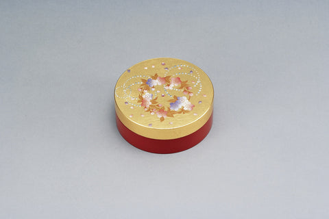 "Ink Pad ""Lacquer craft Round Ink Pad Karin, Red"" - JapaneseGoods.jp - 1"