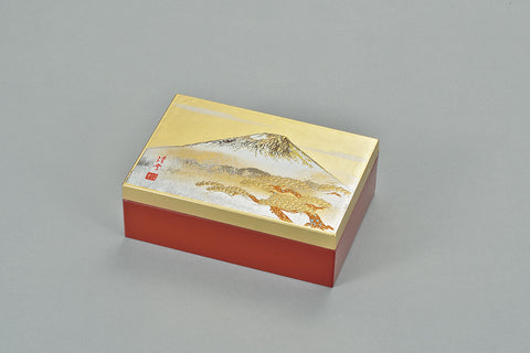 "Accessory Case ""Lacquer Craft Accessory Case ShiroFuji (G)"" - JapaneseGoods.jp - 1"
