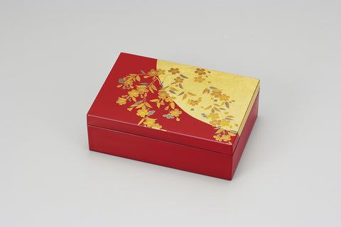 "Accessory Case ""Lacquer Craft Accessory Case Sakura"" - JapaneseGoods.jp - 1"