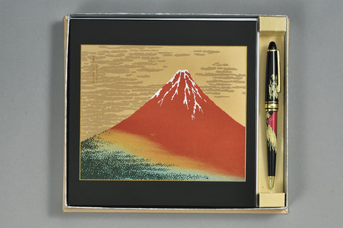 "Assorted Set ""Lacquer Craft 2piece Stationary Set AkaFuji (B)"" - JapaneseGoods.jp - 1"