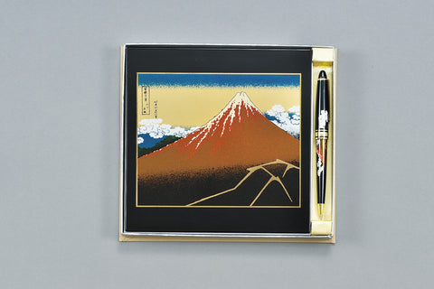 "Assorted Set ""Lacquer Craft 2piece Stationary Set KuroFuji (B)"" - JapaneseGoods.jp - 1"