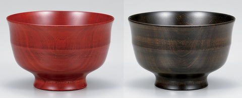 "Soup Bowl ""Wood of Japan: sakura soup bowl pair SAZANAMI"" - JapaneseGoods.jp - 1"