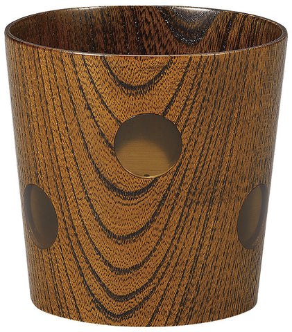 "Drinkware ""Wood of Japan: keyaki tumbler DOT Fuki Urushi"" - JapaneseGoods.jp - 1"