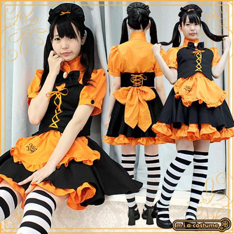 "Maid clothes ""Mia group official products Mia Café mini uniform pumpkin"" - JapaneseGoods.jp - 1"