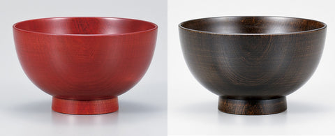 "Soup Bowl ""Wooden pair soup bowl MARU SAKURA work by Miyatsune"" - JapaneseGoods.jp - 1"