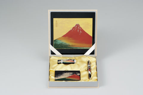 "Assorted Set ""Lacquer Craft Stationary Set E AkaFuji (B)"" - JapaneseGoods.jp - 1"