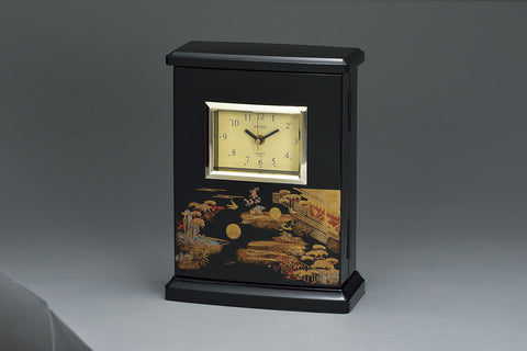 "Clock ""Lacquer Craft Radio clock with Key cabinet Hatsune (B)"" - JapaneseGoods.jp - 1"