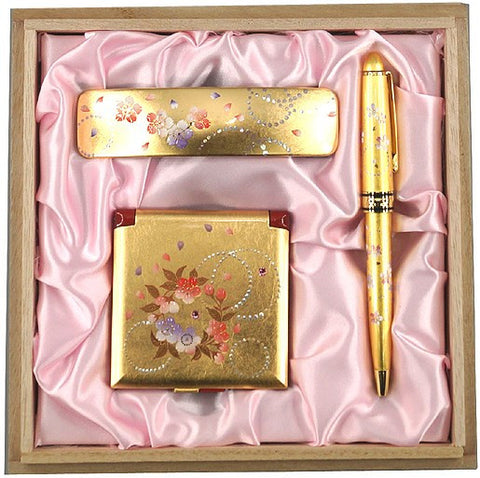 "Assorted Set ""Lacquer Craft Karin set for Women #5 (G)"" - JapaneseGoods.jp - 1"