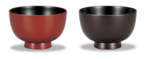 "Soup Bowl ""Wooden 3.8 pair soup bowl GANKONURI MIZUMEZAKURA work by Miyatsune"" - JapaneseGoods.jp - 1"