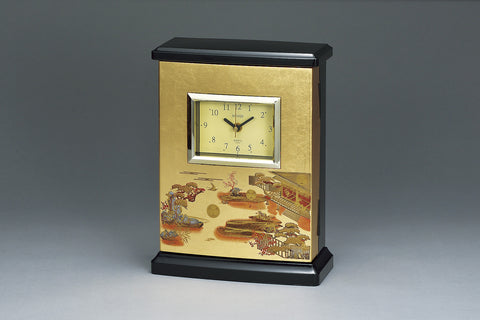 "Clock ""Lacquer Craft Radio clock with Key cabinet Hatsune (G)"" - JapaneseGoods.jp - 1"