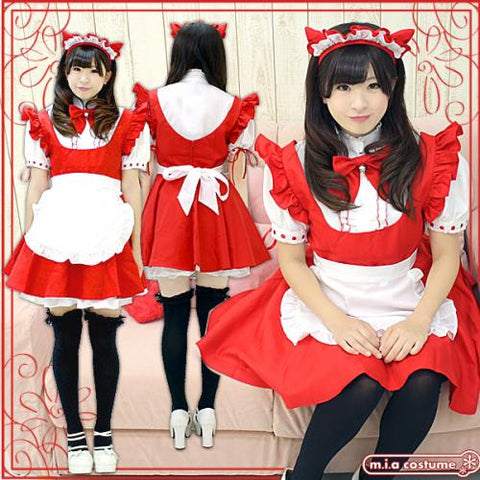 "Maid clothes ""Christmas color MAO Maid"" - JapaneseGoods.jp - 1"