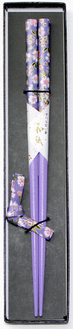 "Chopsticks ""1piece Nadeshiko Chopsticks and Chopstick rest Gift boxed set 22.5cm"" - JapaneseGoods.jp - 1"