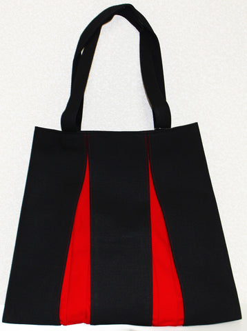 "Bag ""Canvas ougi tote bag M ( black / red )"" - JapaneseGoods.jp"