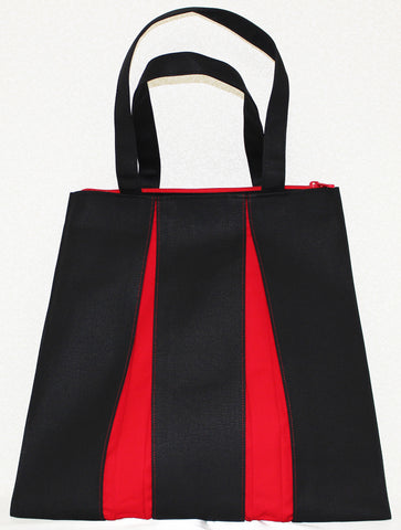 "Bag ""Canvas ougi tote bag TF ( black / red )"" - JapaneseGoods.jp"