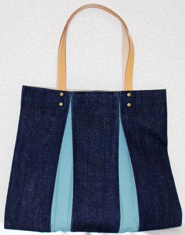 "Bag ""<ougi> denim tote bag WH ( denim / skyblue )"" - JapaneseGoods.jp - 1"