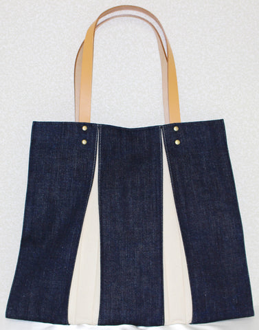 "Bag ""<ougi> denim tote bag WH ( denim / ivory )"" - JapaneseGoods.jp - 1"
