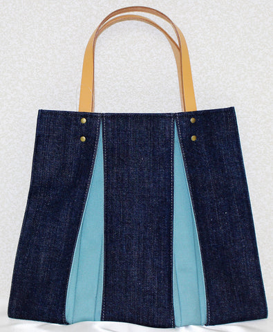 "Bag ""<ougi> denim tote bag CH ( denim / skyblue )"" - JapaneseGoods.jp - 1"
