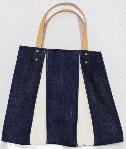 "Bag ""<ougi> denim tote bag CH ( denim / ivory )"" - JapaneseGoods.jp - 1"