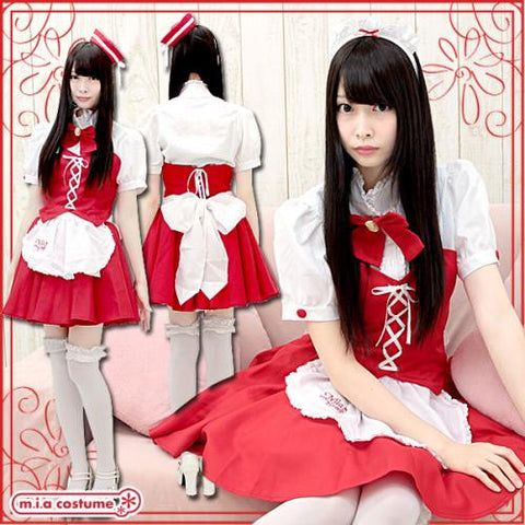 "Maid clothes ""Mia group official products Mia Café mini uniform Christmas color"" - JapaneseGoods.jp - 1"