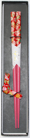 "Chopsticks ""1piece Nadeshiko Chopsticks and Chopstick rest Gift boxed set 21cm"" - JapaneseGoods.jp - 1"