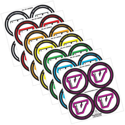 Volante F1 Coloured Tire Stickers (4)