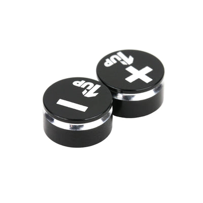 1UP Racing LowPro Bullet Plug Grips – Black/Black