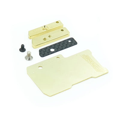 Floating Electronics Weight Plate Set for XRAY T4'20/'21 (Brass)