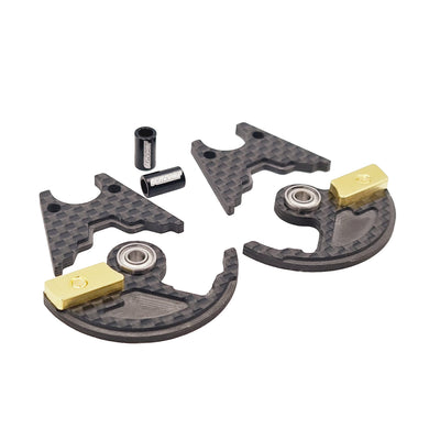 "GeoCarbon HD Weighted Tweak Wheel Set for 1/12th Pan Car (1/8"" Axle)"