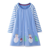 Snow Day Applique Dress