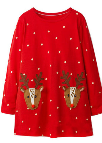 Rudolph Applique Dress