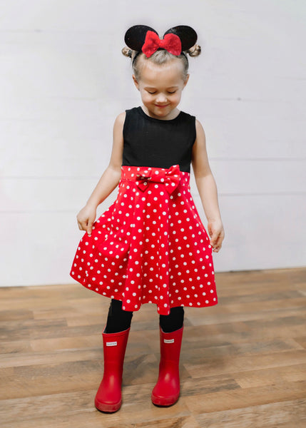 Girl Mouse Dress (Red)