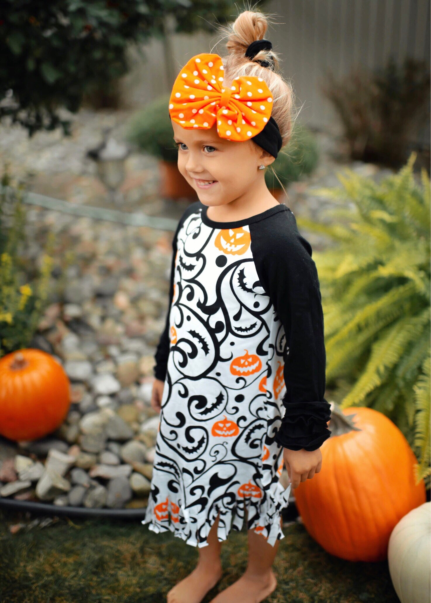 Pumpkin Fringe Dress