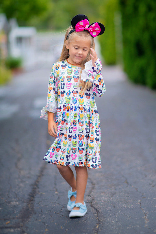 Mouse Friends Dress (Long Sleeve)