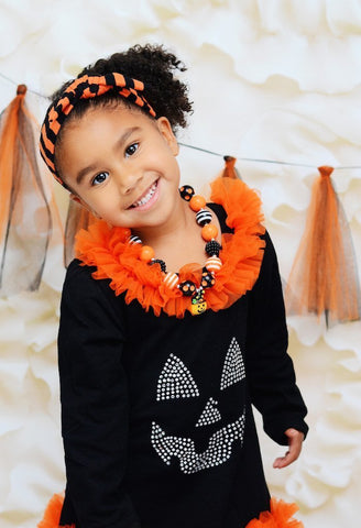 Black/Orange Stripe Knotted Headband