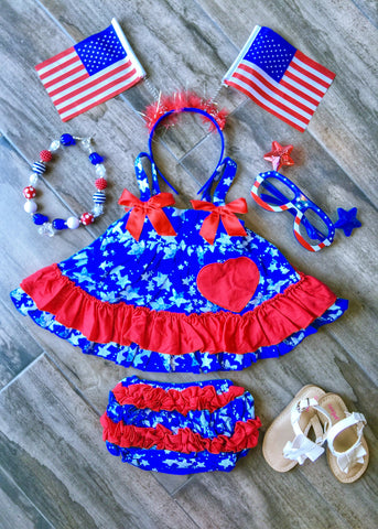 I Heart the USA Swing Top Outfit