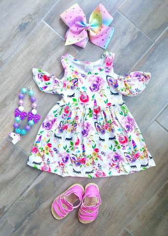 Floral Unicorn Dress