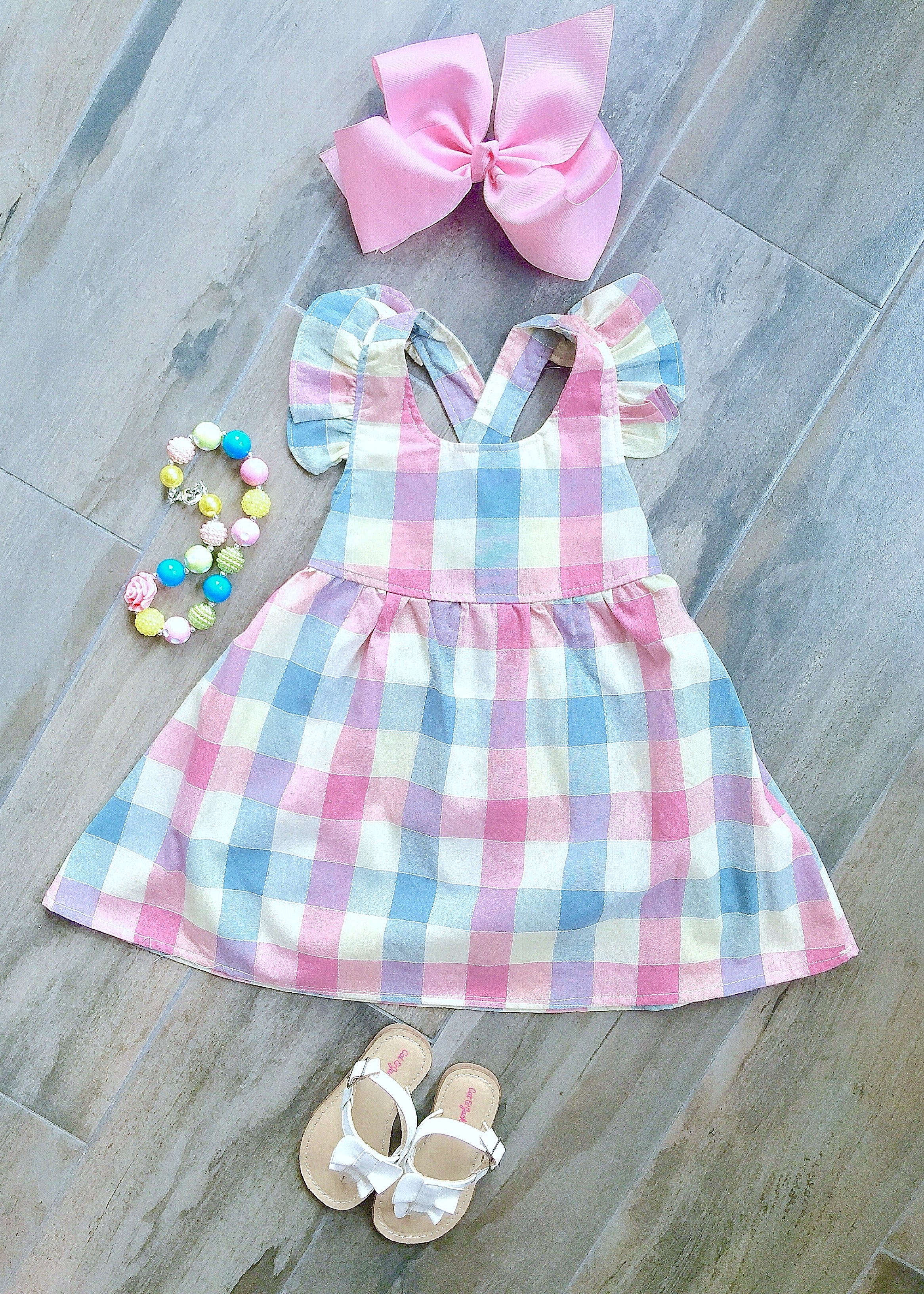 Pink Checker Dress